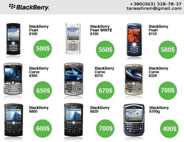 BlackBerry all models